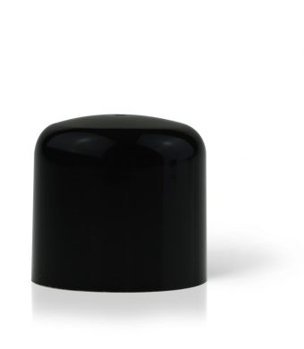 Domed Double Walled Cap Black