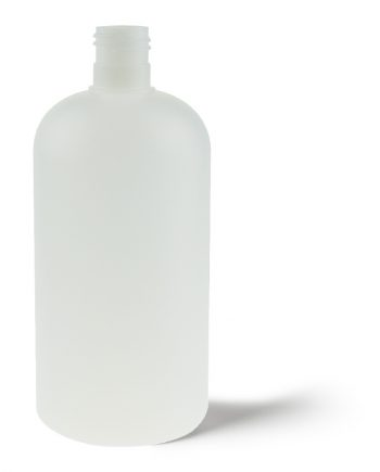 Boston Round HDPE Bottle 500ml Natural